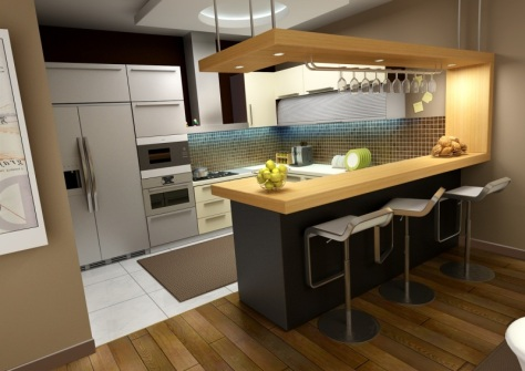 Desain Kitchen Set Mini Bar Samarinda 006