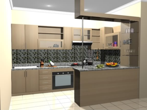 Captivating Desain Kitchen Set Mini Bar Samarinda 007 Part 13
