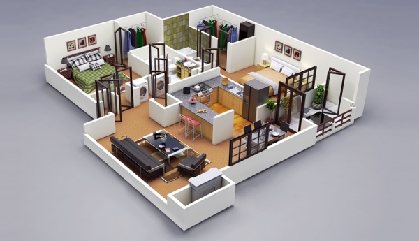 two BEDROOM DESIGN IDEAS 001