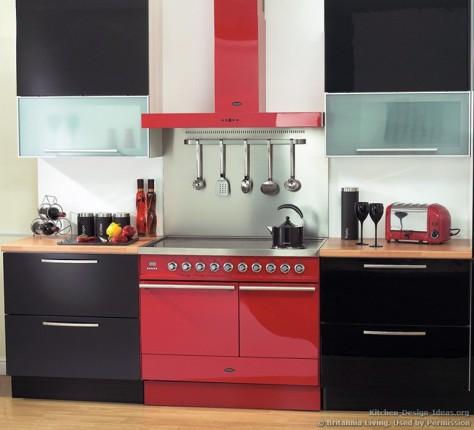 kitchen-cabinets-modern-black-025-bta005-dynasty-100cm-range-cooker-red-arioso-hood-glass
