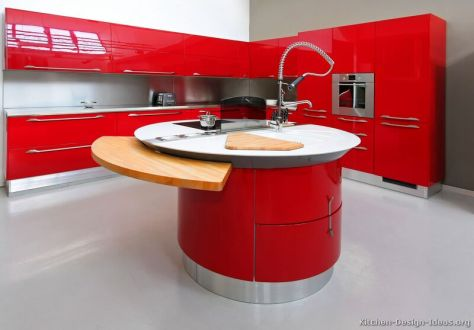 kitchen-cabinets-modern-red-025a-s31610146-curved-circular-island