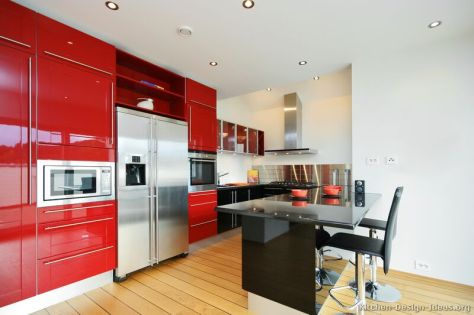 kitchen-cabinets-modern-two-tone-014a-s2455122-red-black-peninsula-seating