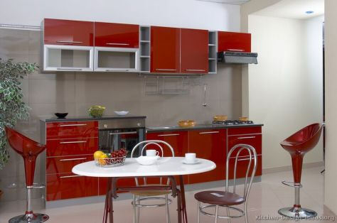 kitchen-cabinets-modern-two-tone-017a-s3466982-red-gray