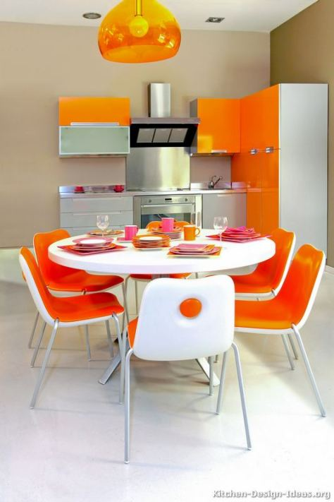 kitchen-cabinets-modern-two-tone-027-s51494167x2-orange-gray-white-small-kitchen-table