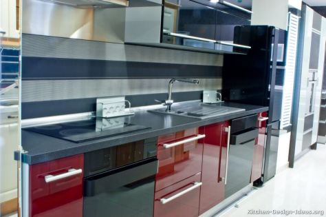 kitchen-cabinets-modern-two-tone-105-s16681090-red-black