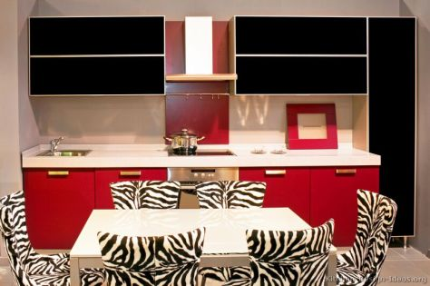 kitchen-cabinets-modern-two-tone-108-s17776741-red-black-kitchen-table-zebra-chairs