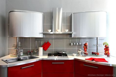kitchen-cabinets-modern-two-tone-243a-s29032699x2-red-stainless-steel-gray-curved-tambour