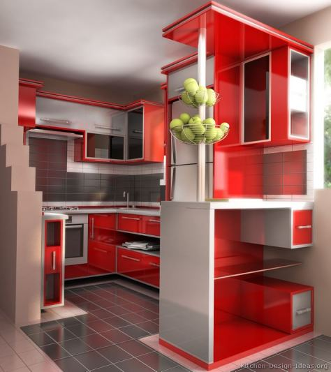 kitchen-cabinets-modern-two-tone-257-s49516660x2-red-stainless-steel-peninsula-glass-3d