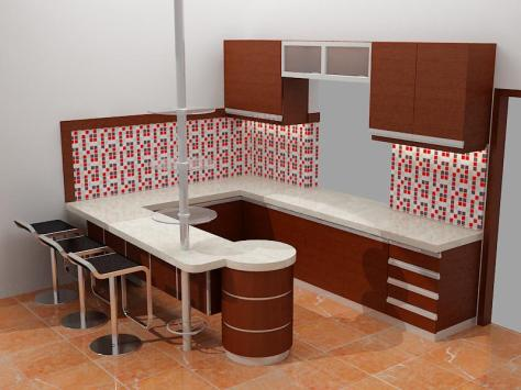 Desain Kitchen Set Mini Bar Samarinda 001