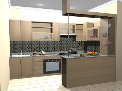 Desain Kitchen Set Mini Bar Samarinda 007