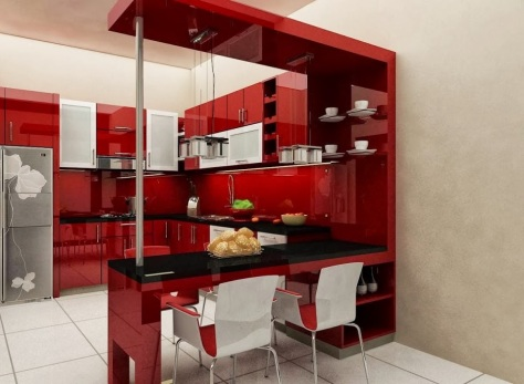 Desain Kitchen Set Mini Bar Samarinda 009
