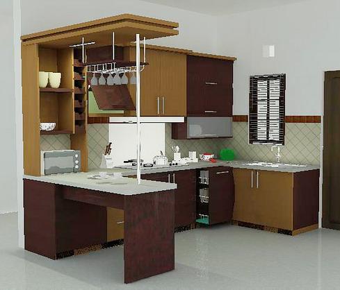 Minibar Minimalis Kitchen Set Samarinda